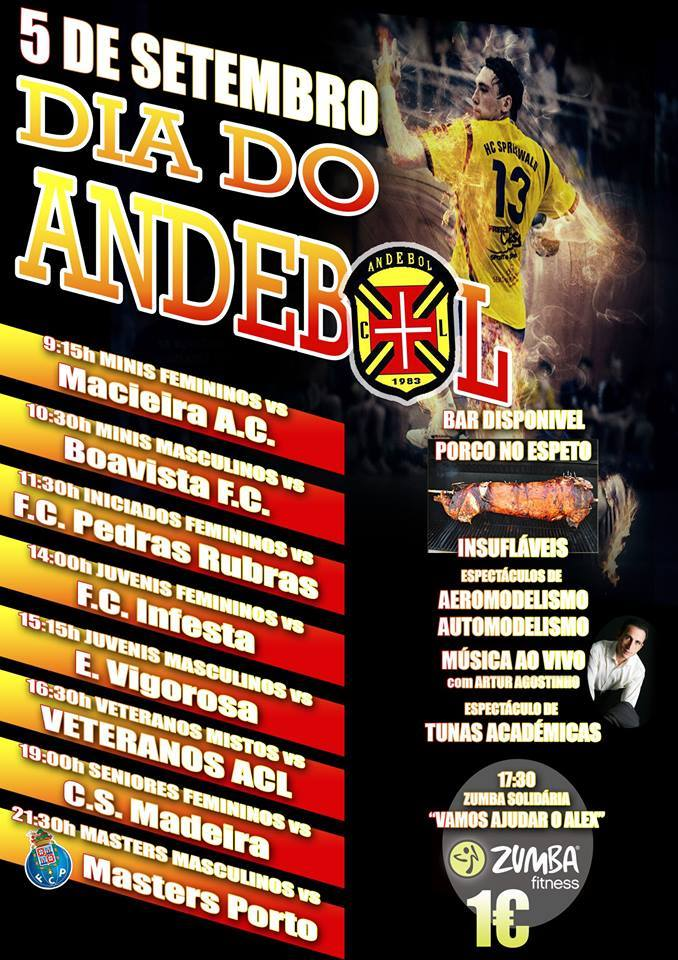 cartaz dia do andebol aclusitanos